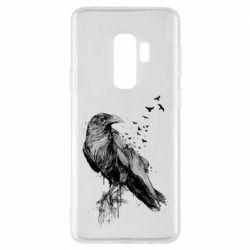 Чохол для Samsung S9+ A pack of ravens