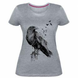 Жіноча стрейчева футболка A pack of ravens