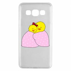 Чехол для Samsung A3 2015 A pair of chickens and a blanket