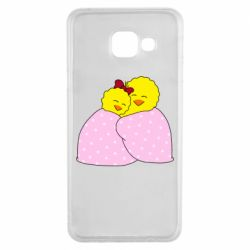 Чехол для Samsung A3 2016 A pair of chickens and a blanket