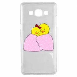 Чехол для Samsung A5 2015 A pair of chickens and a blanket