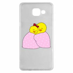 Чехол для Samsung A5 2016 A pair of chickens and a blanket