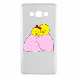 Чехол для Samsung A7 2015 A pair of chickens and a blanket