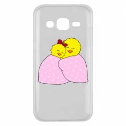 Чехол для Samsung J2 2015 A pair of chickens and a blanket