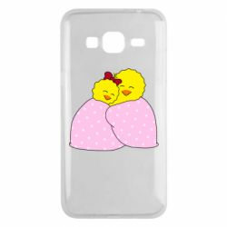 Чехол для Samsung J3 2016 A pair of chickens and a blanket