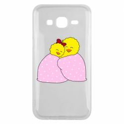 Чехол для Samsung J5 2015 A pair of chickens and a blanket