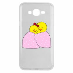 Чехол для Samsung J7 2015 A pair of chickens and a blanket