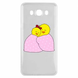 Чехол для Samsung J7 2016 A pair of chickens and a blanket