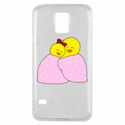 Чехол для Samsung S5 A pair of chickens and a blanket