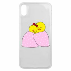Чехол для iPhone Xs Max A pair of chickens and a blanket