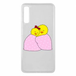 Чехол для Samsung A7 2018 A pair of chickens and a blanket