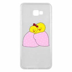 Чехол для Samsung J4 Plus 2018 A pair of chickens and a blanket