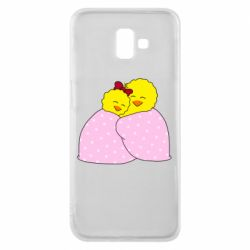 Чехол для Samsung J6 Plus 2018 A pair of chickens and a blanket