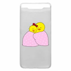 Чехол для Samsung A80 A pair of chickens and a blanket