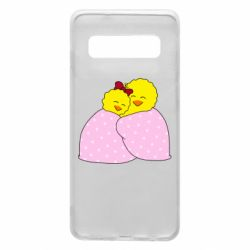 Чехол для Samsung S10 A pair of chickens and a blanket