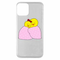 Чехол для iPhone 11 A pair of chickens and a blanket