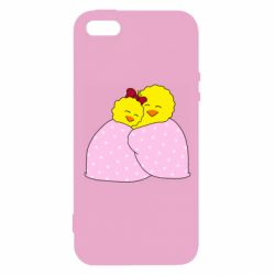 Чехол для iPhone5/5S/SE A pair of chickens and a blanket