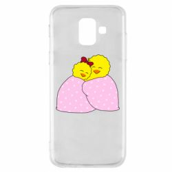 Чехол для Samsung A6 2018 A pair of chickens and a blanket