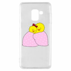 Чехол для Samsung A8 2018 A pair of chickens and a blanket