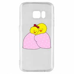 Чехол для Samsung S7 A pair of chickens and a blanket