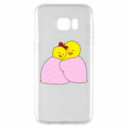 Чехол для Samsung S7 EDGE A pair of chickens and a blanket