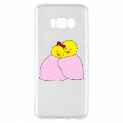 Чехол для Samsung S8 A pair of chickens and a blanket