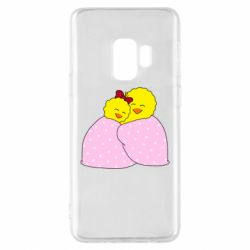 Чехол для Samsung S9 A pair of chickens and a blanket
