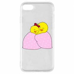 Чехол для iPhone 8 A pair of chickens and a blanket