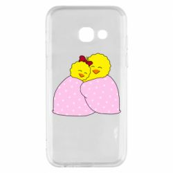 Чехол для Samsung A3 2017 A pair of chickens and a blanket