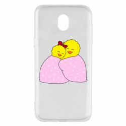 Чехол для Samsung J5 2017 A pair of chickens and a blanket