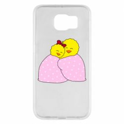 Чехол для Samsung S6 A pair of chickens and a blanket