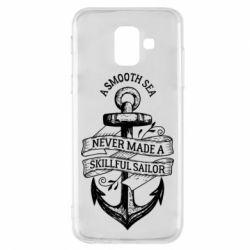 Лето, Чехол для Samsung A6 2018 A smooth sea never made a skillful sailor, FatLine  - купить со скидкой