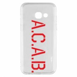 Чохол для Samsung A3 2017 A.C.A.B.