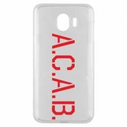 Чохол для Samsung J4 A.C.A.B.