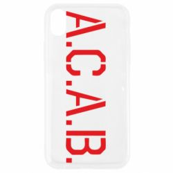 Чохол для iPhone XR A.C.A.B.