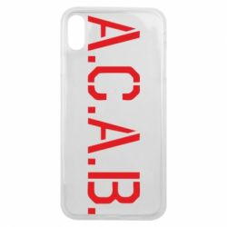Чохол для iPhone Xs Max A.C.A.B.
