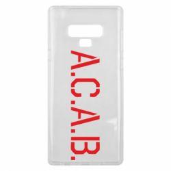 Чохол для Samsung Note 9 A.C.A.B.
