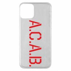Чохол для iPhone 11 A.C.A.B.
