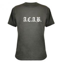Камуфляжная футболка A.C.A.B. - FatLine