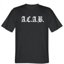 Мужская футболка A.C.A.B. - FatLine