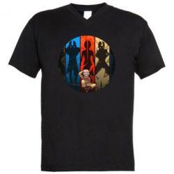 Мужская футболка  с V-образным вырезом Aang Art