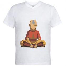 Купить Мужская футболка с V-образным вырезом Aang, FatLine