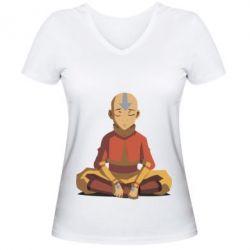 Женская футболка с V-образным вырезом Aang