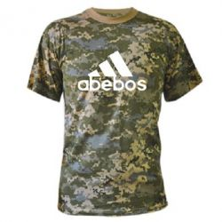 Камуфляжная футболка ab'ebos - FatLine