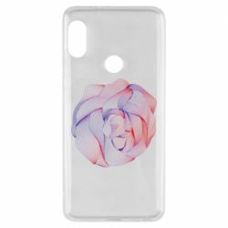 Чехол для Xiaomi Redmi Note 5 Abstract rose from the lines