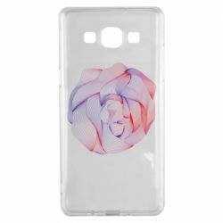 Чехол для Samsung A5 2015 Abstract rose from the lines
