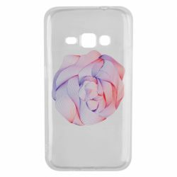 Чехол для Samsung J1 2016 Abstract rose from the lines