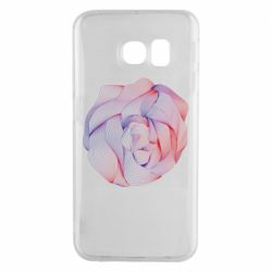 Чехол для Samsung S6 EDGE Abstract rose from the lines