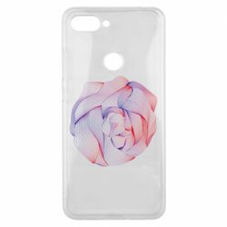 Чехол для Xiaomi Mi8 Lite Abstract rose from the lines