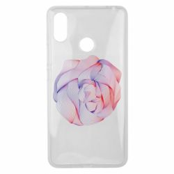 Чехол для Xiaomi Mi Max 3 Abstract rose from the lines